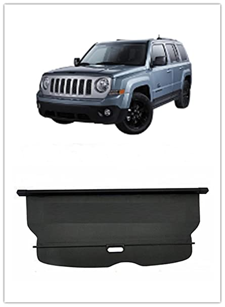 FMtoppeak Black Retractable Cargo Cover Trunk Luggage Shade For Jeep  Patriot 20142016