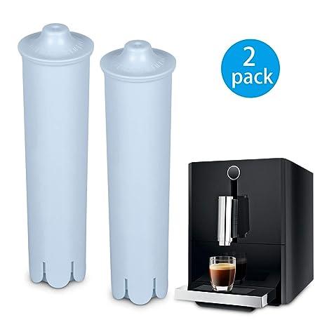 Rhodesy Cartucho Filtro para Jura Claris Blue, filtros de Agua para Jura Máquina Espresso,