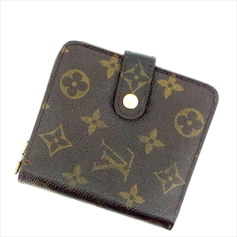 ルイヴィトン Louis Vuitton 二つ折り財布 ラウンドファスナー ユニセックス コンパクトジップ M61667 モノグラム 中古 L146 B01M16N3R4