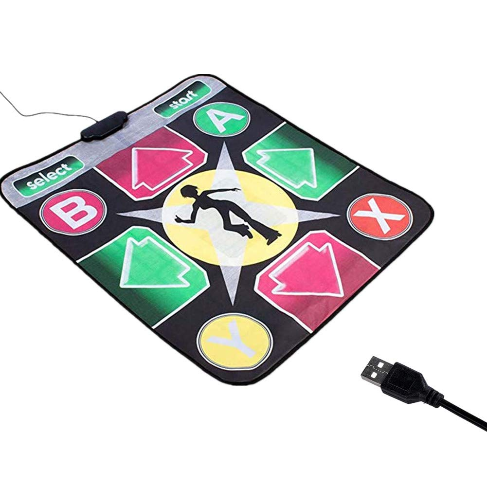 Puronic Non-Slip Dance Mats Rhythm and Beat Game Dancing Step Pads USB Lose Weight Pads Dancer Blanket with USB Entertainment for PC Laptop (Pattern 2, 8 mm Thick)