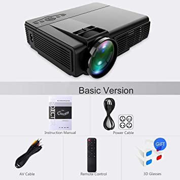 WHLDCD Proyector Potente Mini proyector Q5 Full HD 1080P ...