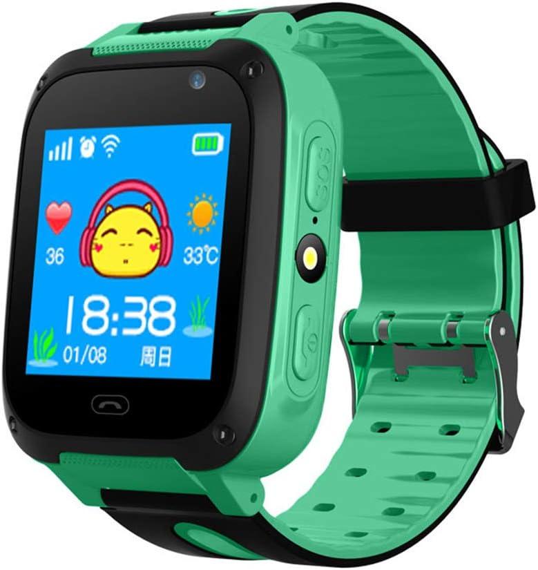 Reloj Inteligente, con GPS para Niños, Reloj Pulsera Antipérdida, Pantalla Táctil 1,44 Pulgadas, Resistente Agua, para Niños, Niñas, Regalo Cumpleaños,Verde