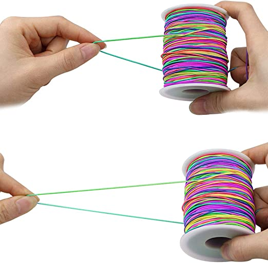 Rainbow 100 M Sunmns 1mm Elastic Cord Beads Stretch String For Jewelry Bracelet Making