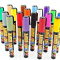 Marker Monkey Liquid Chalk Markers, 18 Colors Neon and Earth Tones Artist Quality, (6mm Reversible Tips) Non-Toxic Water Based, Erasable with Water and Rag