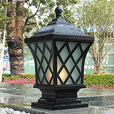 J-Farola De Exterior Luz Del Pilar farola impermeable al aire libre llevó la luz del césped del paisaje del jardín de Villa Pilar luces de calle Lámparas de suelo a prueba de