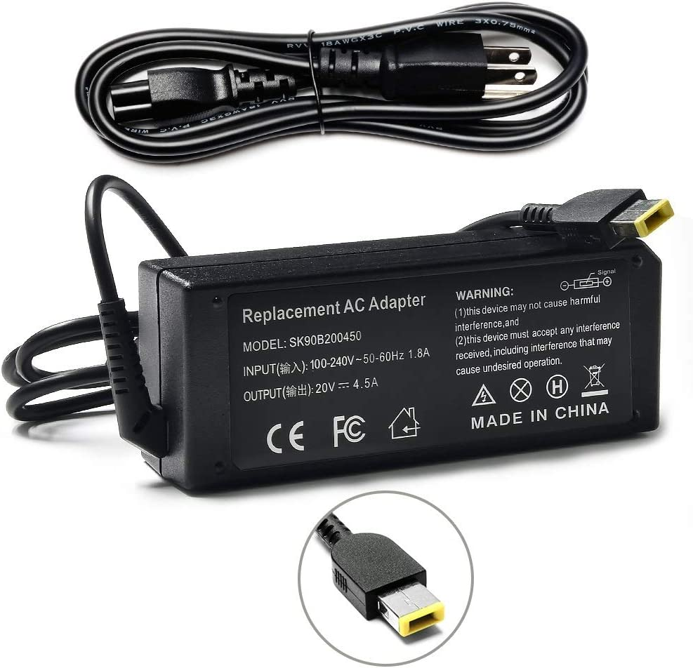 Vanzer 90W Laptop Charger Adapter for Lenovo ThinkPad X1 Carbon T440 T550 E431 E440 E540 X240 X250 T440S T450s L540, Ideapad S215 S210 U330 U430 U430p S500 S510p, Chromebook N20 N20p T440 T540p