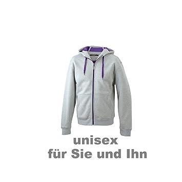 JN355 Men´s Doubleface Jacke Sweatjacke Kapuze Sweatshirt
