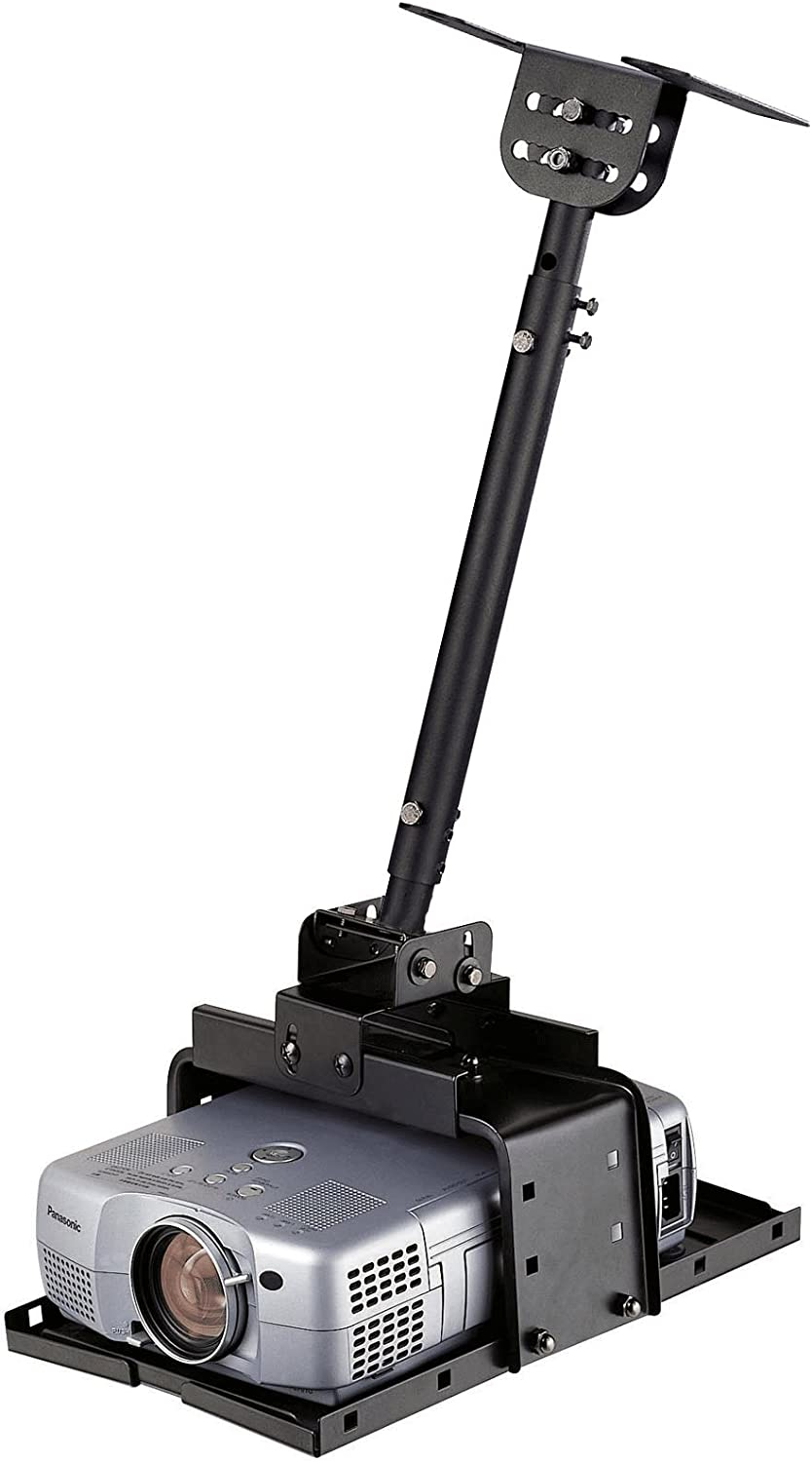 Gibbon Mounts Universal Projector Ceiling Mount Wall Mount Bracket with Extendable Pole Length 16.5-25.2,Hold up to 33lbs,Sliver,Two Different Install Ways