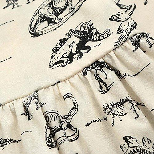 Mini honey Infant Baby Girls Summer Playwear Sun Dresses One-Piece Dress With Dinosaurs Print (3-6 Months, Beige) by Mini honey (Image #5)