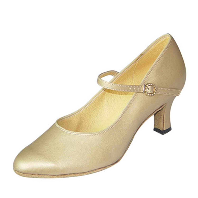 - YFF Cadeaux femmes Dance danse danse latine Dance Tango chaussures 6cm,Apricot Couleur,43