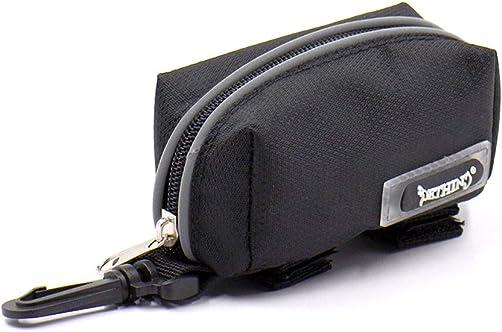 UEETEK Dog Pet Poop Bag Pouch Holder for Walking Running Hiking Black