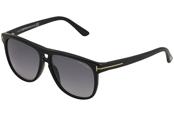 75933e2500 Image Unavailable. Image not available for. Colour  Tom Ford Lennon TF 288  01N Black Grey Gradient Sunglasses