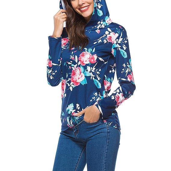 Mujer 2018 Otoño Moda Sudaderas con Capucha Manga Larga Suéter Capa Encapuchado Tops Camiseta Blusa del Vintage del Ocasionales Pullover Outwear: Amazon.es: ...