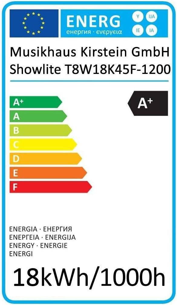 900/mm T8, G13, 2136/l/úmenes, 4500/K, luz de d/ía Blanco, Potencia: 24/W Showlite LED Tubo 150/cm