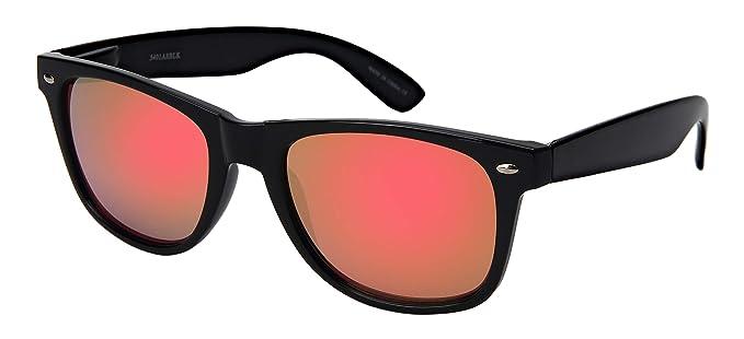 Amazon.com: Gafas de sol con borde de cuerno negro Edge I ...