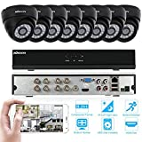 KKmoon Home Surveillance Camera System,8 Channel NVR HD 960H with 8 PCS 800TVL Bullet Cameras, 50ft IR LED Night Vision Outdoor/Indoor Day Night CCTV Cameras