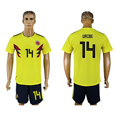 2018 World Cup Colombia National Team #14 Soccer Jersey