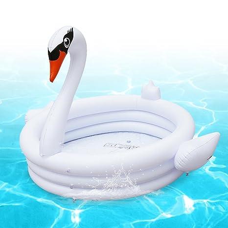 waroomss Baby de piscina, Ins hinchable Piscina de blanco cisne ...