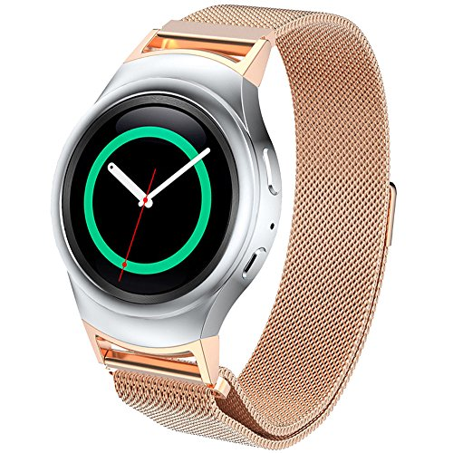 dbmood-mesh-watch-band-for-samsung-gear-s2-rm-720-smart-watchstainless-steel4-color826-inches-rose-g