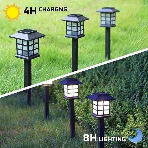 Otdair Solar Path Lights Outdoor – Waterproof LED Solar Pathway Lights Outdoor for Yard, Garden, Path, Landscape, Patio, Walkway, 12 Pack