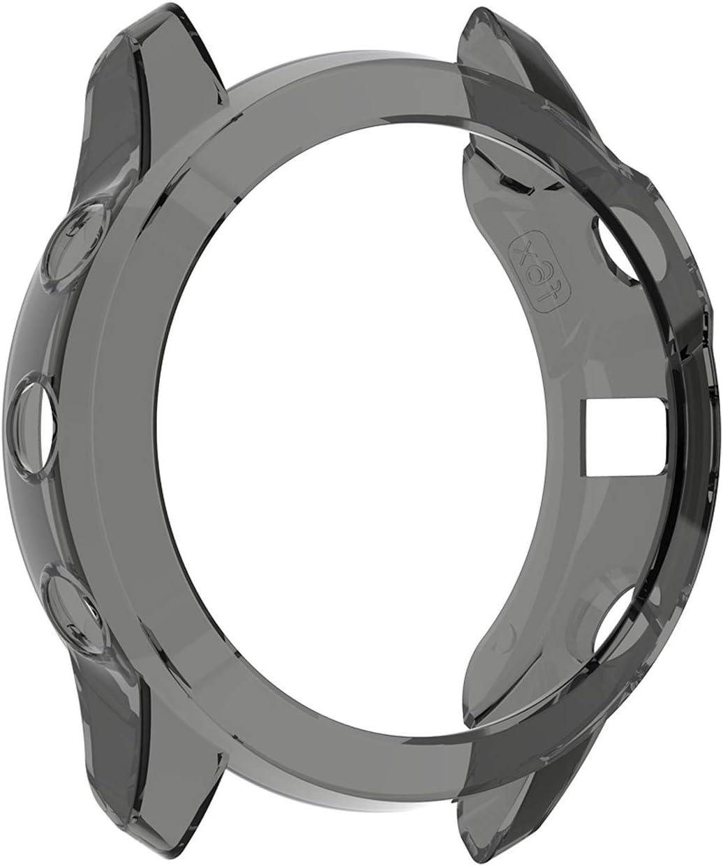 lamshaw Silicone TPU Case Cover for Garmin Fenix 6X Pro//Fenix 6X Pro Solar//Fenix 6X Sapphire 2 Pack-Black case, Fenix 6X Series for Garmin Fenix 6X Pro Case