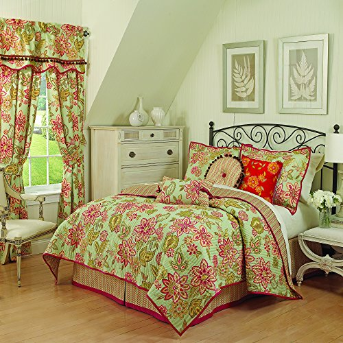 Waverly 14274BEDDKNGHSK Charismatic Honeysuckle 104-Inch by 90-Inch 4-Piece King Reversible Quilt Set, Honeysuckle