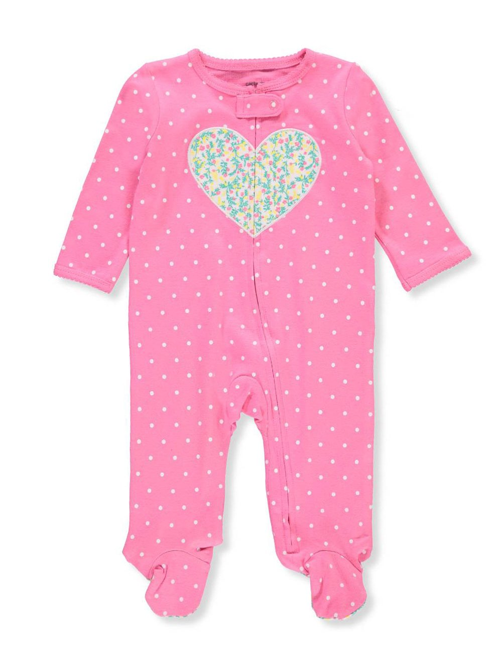 Carter's Baby Girls' Baby Girls Zip up Heart Cotton Sleep and Play Newborn by Carter's (Image #1)