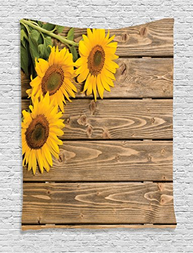 Ambesonne Collection Sunflowers Background Decorative