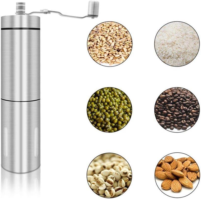 Columna Triangular BORYLI Molino de caf/é Hecho a Mano Caf/é Manual Molinillo de caf/é Granos de caf/é Suministros de caf/é Molienda de n/úcleo de cer/ámica