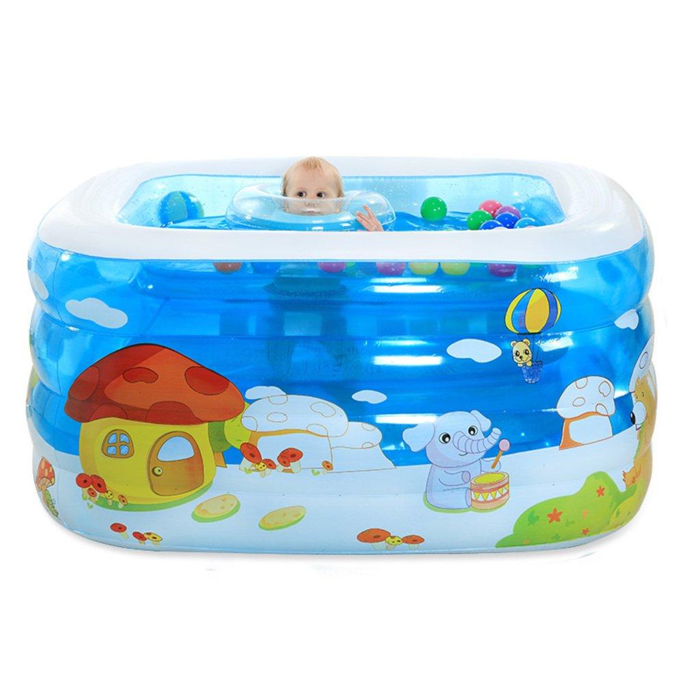 Baby Schwimmbad/Baby aufblasbar gepolstert große Kinderbecken/Baby marine Bällebad-B