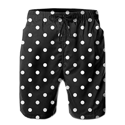 321f90075d Amazon.com: Men's Black Polka Dot Personalised Custom Unique Fashion ...