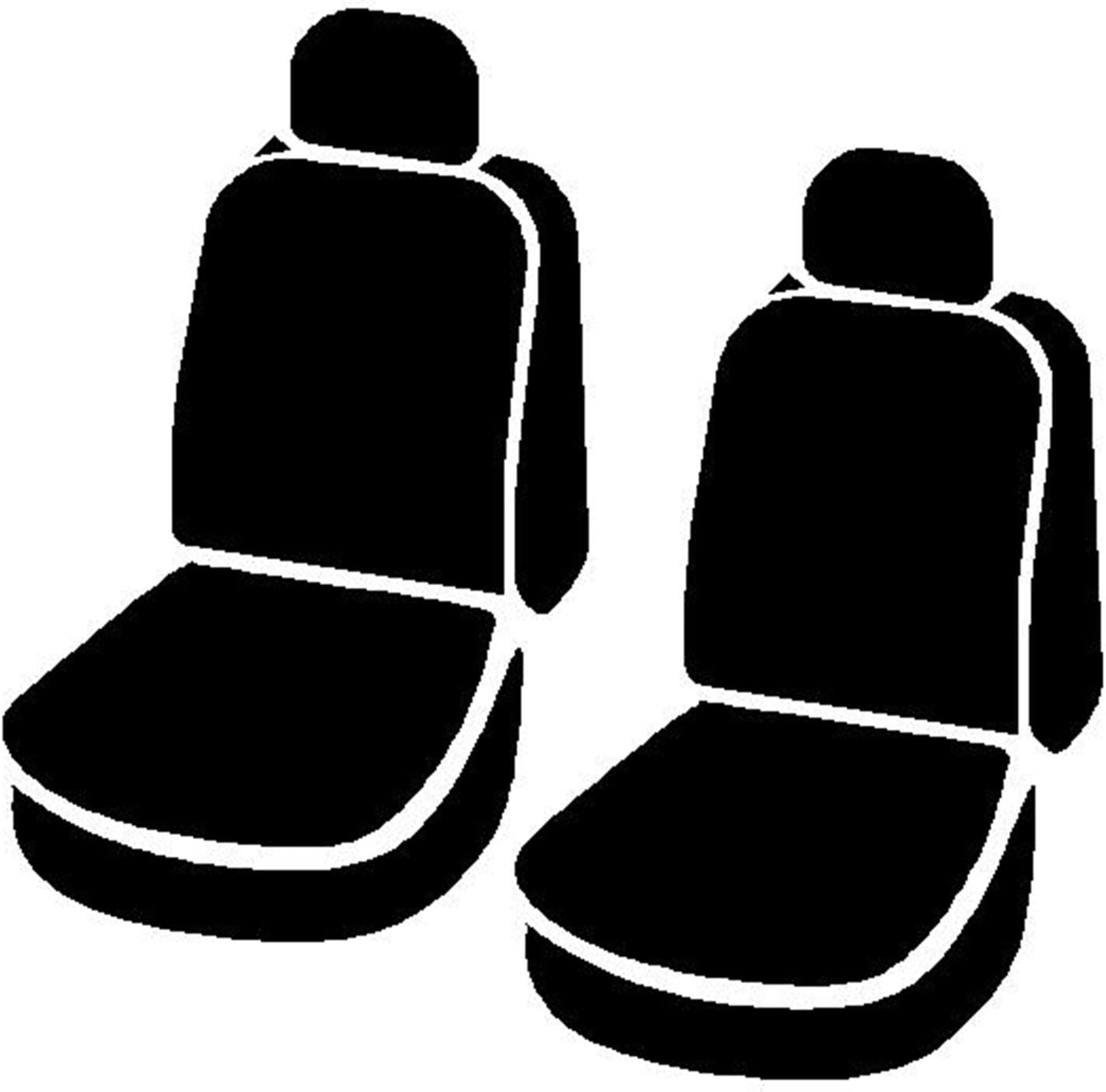 Black w//Gray Center Panel Fia SL62-44 GRAY Custom Fit Rear Seat Cover Split Seat 40//60 Leatherette,