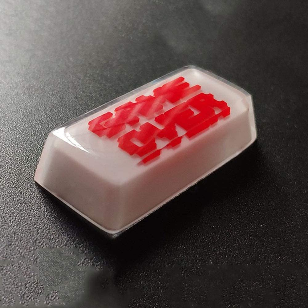 Keyboard keycaps Backspace Keycap White Red Key Cap for Mx Switch Mechanical Keyboard Decoration Replacement 2.25u Color : Backspace2