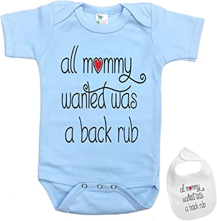 funny gift for girl baby All mommy wanted was a backrub funny baby girl pink bib last one sale