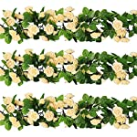 YILIYAJIA-3PCS-Artificial-Rose-Garlands-Silk-Fake-Rose-Flowers-Green-Leaves-Vine-for-Home-Hotel-Office-Wedding-Party-Garden-Craft-Art-Decor