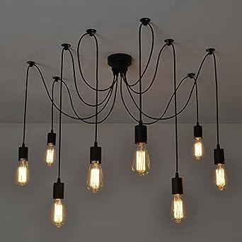 netboat kronleuchter pendelleuchten 8 lichter hängende lampen ... - Beleuchtung Wohnzimmer Esszimmer