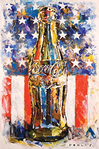 Coca Cola Star & Stripes Art Poster 24 x 36in