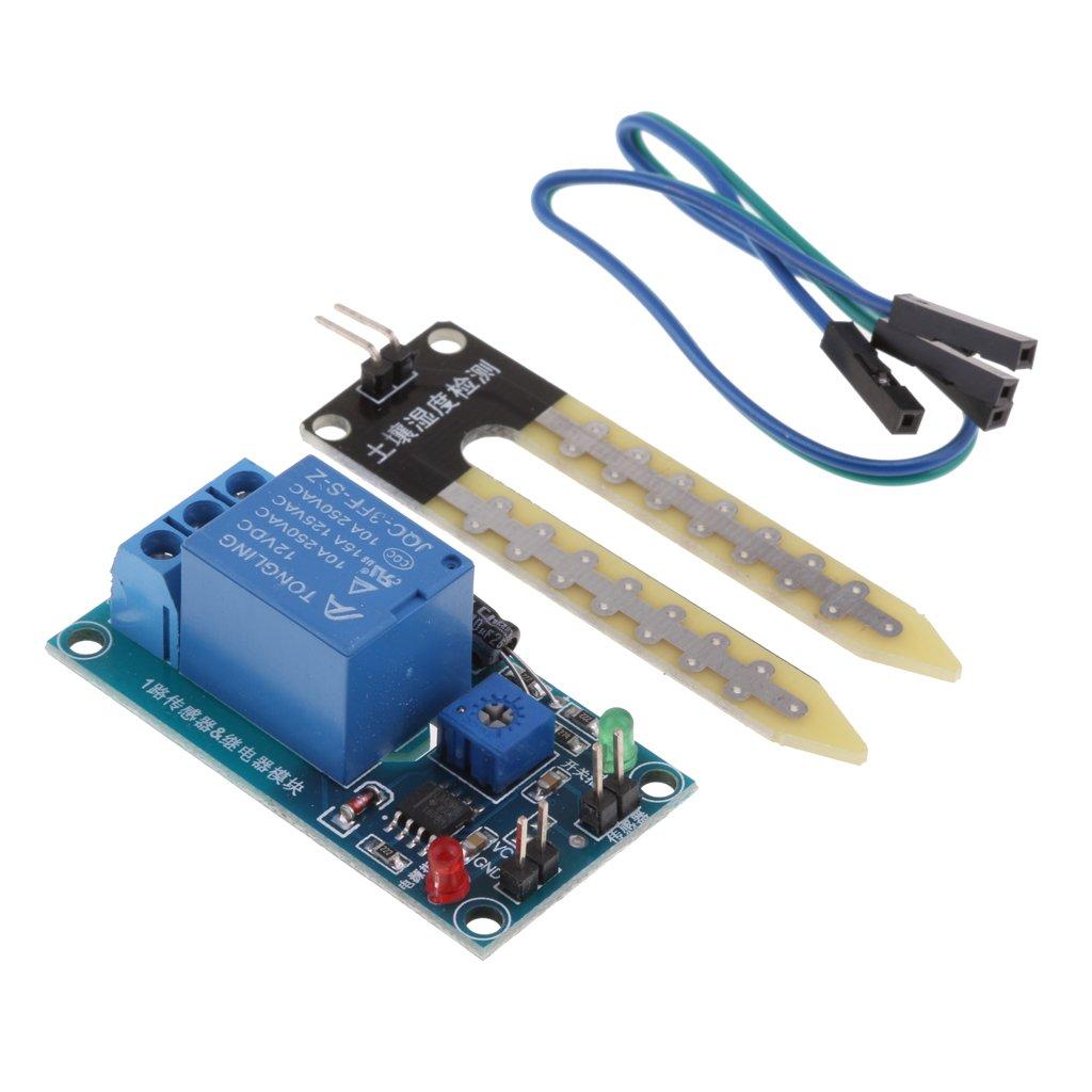 F Fityle 4PCS//12V Soil Hygrometer Moisture Detection Module Sensor for Automatic Watering