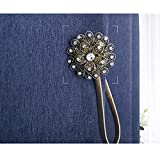 YING CHIC YYC 1Pair Flower Magnetic Curtain Tieback