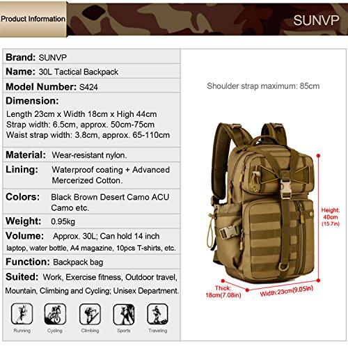 SUNVP 30L Tactical Military MOLL...