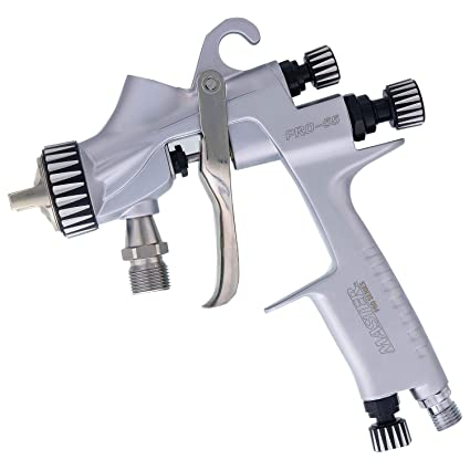 Master Pro 55 Series High Performance Pressure Feed Spray Gun with 1 2mm  Tip - Ideal for Automotive Basecoats, Clearcoats - Advanced Atomization