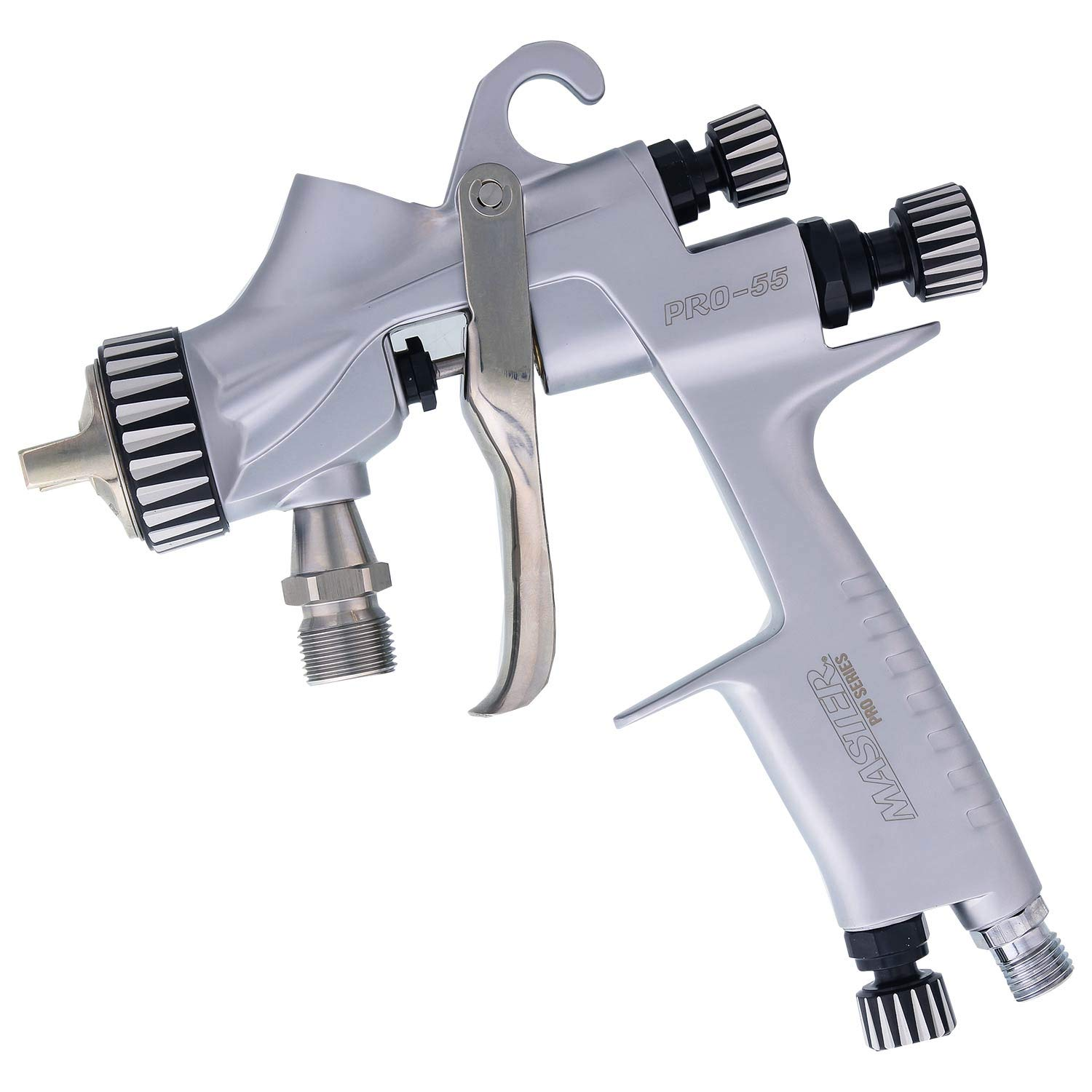 Master Pro 55 Series High Performance Pressure Feed Spray Gun with 1.2mm Tip - Ideal for Automotive Basecoats, Clearcoats - Advanced Atomization Technology