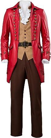 Bilicos The Beast Suit Gaston Cosplay Disfraz Adulto Hombres Rojo L