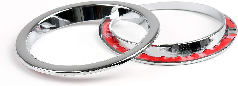 Bruce /& Shark 1 Pair Black ABS Plastic Front Turn Signal Ring Covers for J-E-E-P Wrangler JK 2007-2016