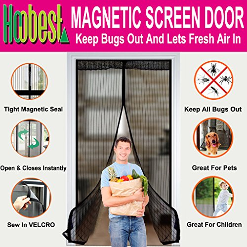 Hoobest Magnetic Screen Curtain Velcro