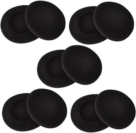 10 Pares de Almohadillas de Auriculares de 2 Pulgadas Almohadillas de Espuma Funda de Almohadilla Compatible con Auriculares Sony Philips