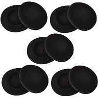 Sunmns 2 Inch Foam Pad EarPad Ear Cover Compatible with Sony Sennheiser Philips Headphone, 5 Pairs, Black