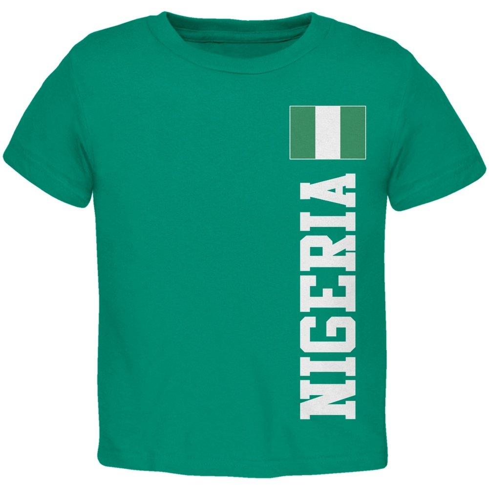 Old Glory Mundial de Fútbol de Nigeria Verde Infantil Camiseta ...