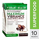 Cheap Vibrant Health – Maximum Vibrance Chocolate, Plant-based All in One Green Futurefood, 10 Packets