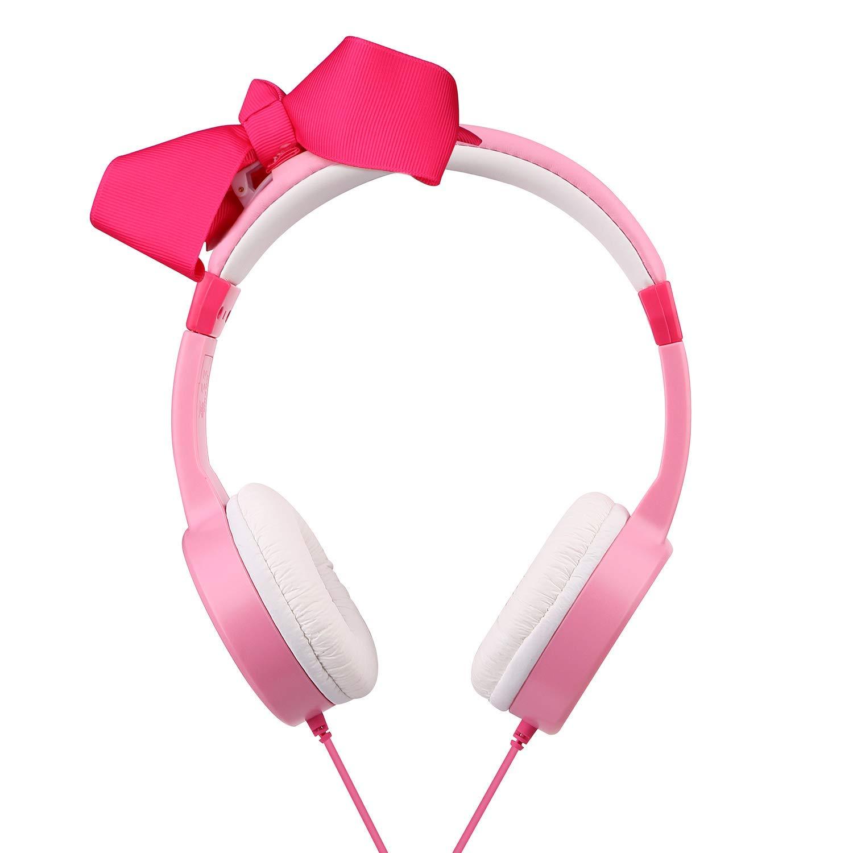 Mejory Audifonos Diadema Color Rosado para Niñas Control Limite De Volumen Ajustables by Mejory (Image #3)